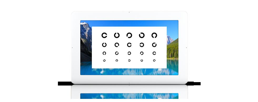 Augenoptisches und optometrisches Zentrum Optik Mattern - Ihr Optiker in Wiesloch und Sandhausen. Das OCULUS Vissard 3D Sehprüfgerät: Displays mit extrem hoher Pixeldichte garantieren beeindruckend scharfe Sehtests.